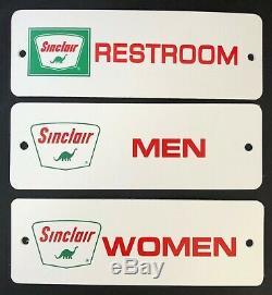 3 SINCLAIR RESTROOM Gas & Oil Service Station SIGN Women Men Vintage Advertising