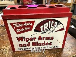50's 60's Vintage TRICO WIPER BLADE DISPLAY Cabinet Gas Service Station Cart