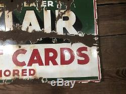 Antique Porcelain Sinclair Sign Gas Pump Service Station Oil Can Gulf Texaco Old