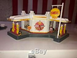 Danbury Mint Shell Gas Service Station Display Light Up Model WithClock