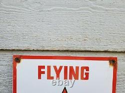 Flying A Gasoline Porcelain Metal Gas Sign Service Station Pump Plate Ad