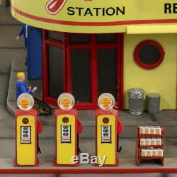 Limited Edition HO Gauge Wallys Shell Gas & Service Station Pre Built PreLit