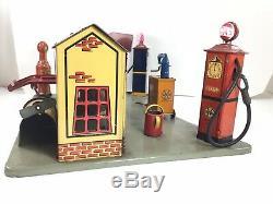 Marx Tin Litho Sunny Side Gas Service Station