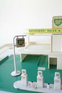 Matchbox Garage Lesney MG1 Service Station BP Gas Petrol Station VTG