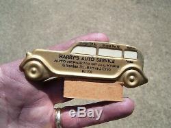 Original 1950' s Vintage Visor nos service oil Reminder gas station Rat Hot rod