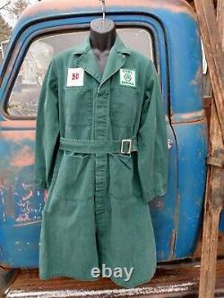 Original Cities Service Gas Station Attendant Uniform Overcoat Patch 5-D Oil Can