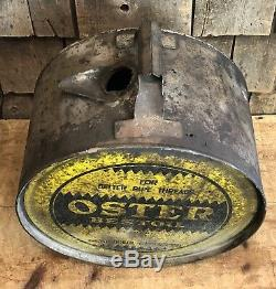 RARE Vintage OSTER BESTOIL 5 Gallon Gas Service Station Oil Can Rocker Sign