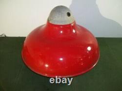 REVERE Red Porcelain Garage Service Gas Station Light Shade 20 #2