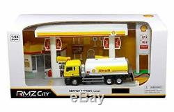 RMZ City 1/64, Shell Service Station, Gas, with Tanker Truck