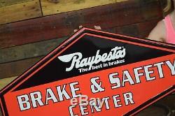 Raybestos Brakes Auto Advertising Sign Gas Station Service Garage Dealership