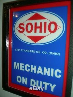 SOHIO Standard Ohio Oil Gas Service Station Garage Lighted Advertising Sign