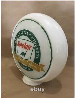 Sinclair Gasoline Globe Glass Lens Sign Dino Care Gas Pump Light Service Station