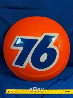 Union 76 VTG Advertising Sign Gas Oil Service Station 20 Half Ball Bubble 3D