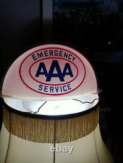 VINTAGE N. O. S. AAA SERVICE Gas N Oil Station Truck LIGHTED SIGN CAB TOPPER