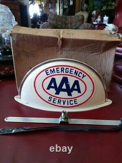 VINTAGE N. O. S. AAA Service Station Gas & Oil Light Up Sign Cab Topper