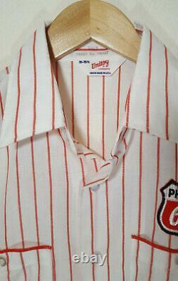 Vintage 1970s Phillips 66 Gas Station Service Work Button Shirt