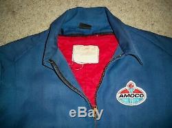 Vintage Amoco Gas Filling Service Station Attendant Jacket