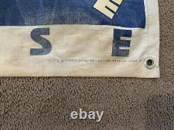 Vintage Atlantic Motor Oil Cloth Banner Canvas Gas Garage Service Station Sign 1