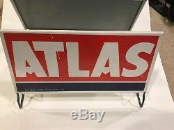 Vintage Atlas Gas Service Station Tire Holder Display Sign