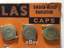 Vintage Atlas Radiator Cap Store Display Sign / Gas Oil Service Station