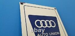 Vintage Audi Automobile Porcelain Gas Auto Dealer German Vw Service Station Sign