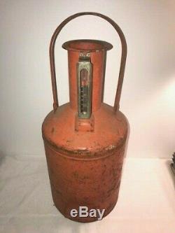 Vintage BROOKINS Service Gas Station Calibration Test Measure 5 Gal. Metal Can