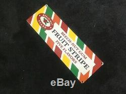 Vintage Beech Nut Gum Porcelain Sign Gas Oil Service Station Pump Plate Rare