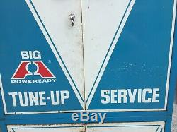 Vintage Big A Industrial Service Station/Gas Station Tune-up Parts Metal Cabinet
