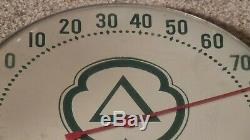 Vintage CITIES SERVICE Motor Oil Gas Station Advertising Thermometer Sign