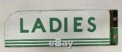 Vintage Cities Service Gas Station Ladies Rest Room Porcelain Enamel Sign