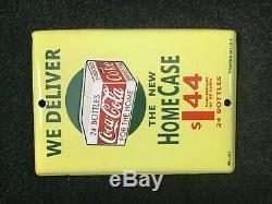 Vintage Coca Cola Porcelain Sign Soda Pop Gas Oil Service Station Pump Plate