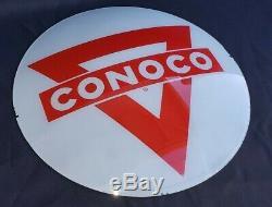 Vintage Conoco Gas Pump Globe Lens Service Station Garage