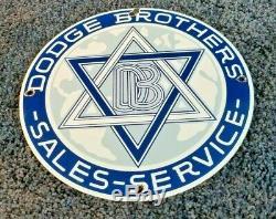 Vintage Dodge Brothers Gasoline Porcelain Sign Gas Service Station Automobile Ad