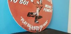 Vintage Flying A Gasoline Porcelain Gas Football Service Station Pump Plate Sign