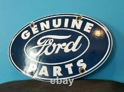 Vintage Ford Automobile Porcelain Gas Auto Service Station Parts Plate Sign