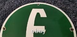 Vintage Ford Automobile Porcelain Gas Service Station E Edsel Pump Sign