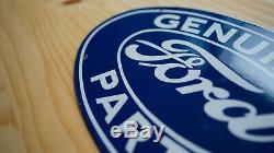 Vintage Ford Porcelain Sign Gas Oil Pump Plate Service Station Rare Motors Auto