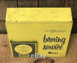 Vintage GM Hyatt Bearing Service Gas Service Station Garage Dealer Cabinet Sign