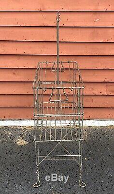 Vintage Gas Service Station GARGOYLE Filpruf Glass Oil Bottle Rack Carrier