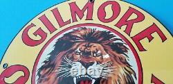 Vintage Gilmore Porcelain Gas Auto Motor Oil Service Station Pump Plate Sign