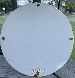 Vintage Gulf Gasoline Porcelain Sign Gas Metal Service Station Pump Plate Ad
