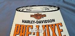 Vintage Harley Davidson Motorcycle Porcelain Gas Service Station Dealership Sign