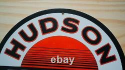 Vintage Hudson Regular Porcelain Sign Gas Motor Oil Pump Plate Service Station