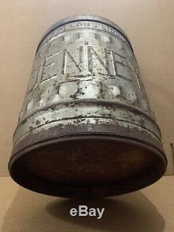 Vintage Jenny Gas Can Metal Service Station Garage Decor Sign 5 Gallon