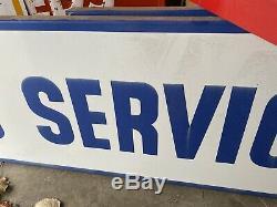 Vintage LONG PORCELAIN CITIES SERVICE GAS SERVICE Rare Gas Station Sign