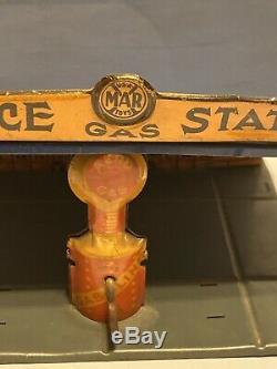 Vintage Marx 1929 Service Station Aero Gas Pump Hard To Find