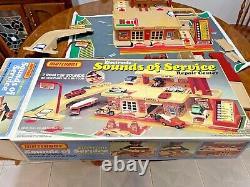 Vintage Matchbox Cars Lesney Sounds Of Service Gas Station Garage Playset 1981