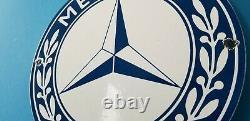 Vintage Mercedes Benz Porcelain Gas Automobile Service Station Dealership Sign
