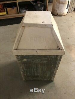 Vintage Metal Bennett Mfg. Co New York Trash Can Push Service Station Gas Oil
