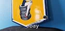 Vintage Michelin Tires Bibendum Porcelain Gas Auto Mechanic Service Station Sign